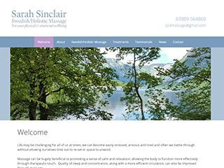 Sarah Sinclair Swedish/Holistic massage